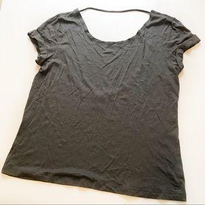 PINK Victoria Secret Backless T-Shirt Sz S